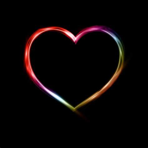 neon achtergrond van het hart vector gratis