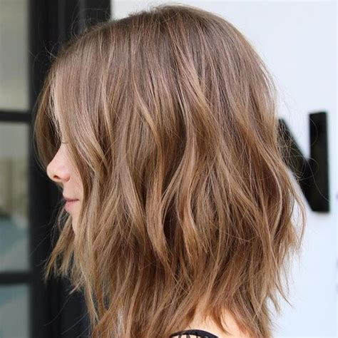 flirty light brown hair  women hair color ideas