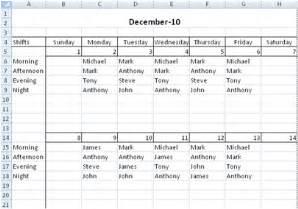 Excel Spreadsheet For Scheduling Employee Shifts by Free Employee Shift Scheduling Spreadsheet