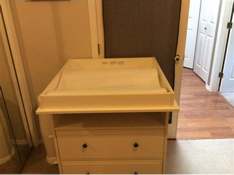 ikea hemnes dresser changing table with table pad and two