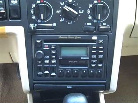 volvo  car stereo removal  repair youtube