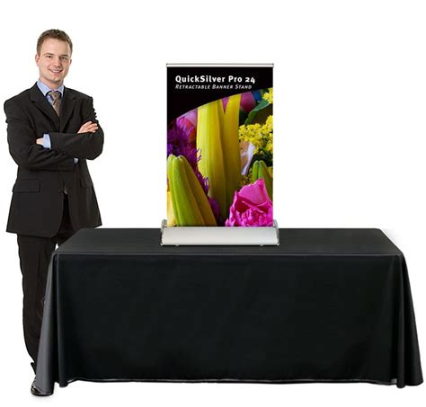 table top banner display quicksilver pro 24 table top retractable banner stand