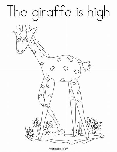 Coloring Pages Megalodon Giraffe Template Colouring Shark