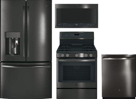 ge gereradwmw  piece kitchen appliances package  french door refrigerator gas range