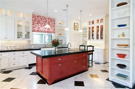 Red, Black And White Interiors