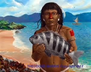 hispaniola taino paintings by theodore morris