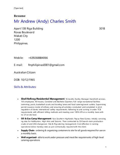 andrew smith resume nov 16