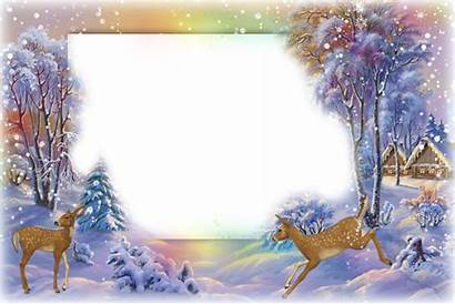 Photoshop Frames Frame Winter Christmas Psd Backgrounds
