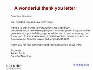 thank you for your support letter tomyumtumwebcom With how to write a thanking letter for a donation