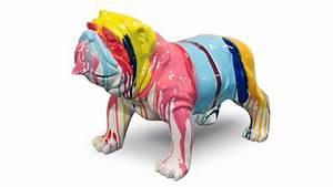Statue Chien Design : statue de chien bouldog design multicolore mobilier moss ~ Teatrodelosmanantiales.com Idées de Décoration