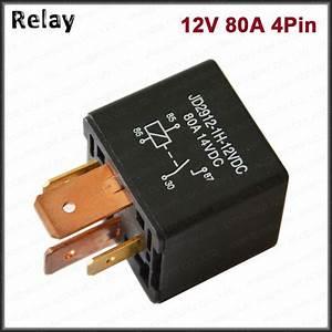 Kh 12v 24v Dc 80a 4 Pin Car Relay Automotive On  Off