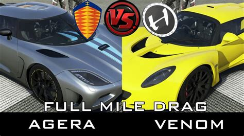 Hennessey Venom Vs Koenigsegg