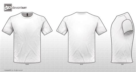 Tshirt Template Png by White Templates Png By Sleeprobber On Deviantart