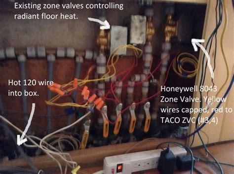 zone valve wiring taco need zvc heating help water steam boilers systems box doityourself plus floor zones kick toe