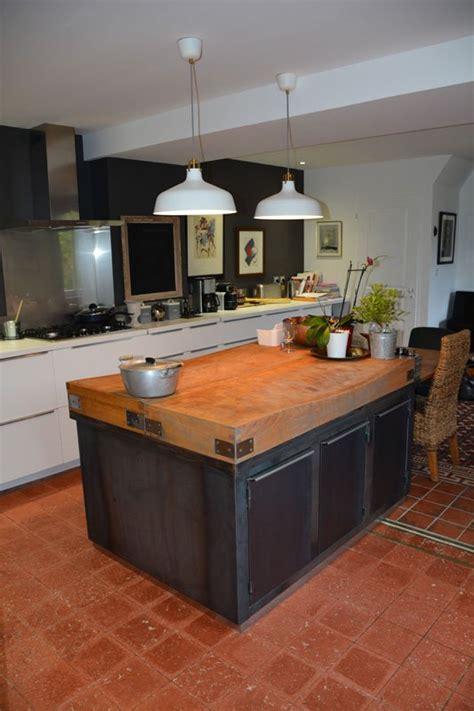 meuble cuisine acier meuble de cuisine style industriel entre de maison dco