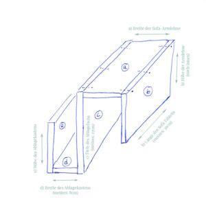 Baumarkt Bretter Zuschneiden by Do It Yourself Sofa Tablett In Kreideweiss Mit Kork Akzenten