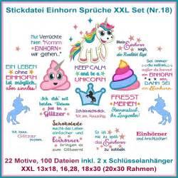 einhorn sprüche stickdatei einhorn sprüche set nr 18 rock