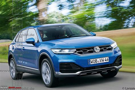 volkswagen suv volkswagen t roc suv based on the golf platform team bhp