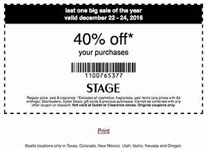 Stage Stores Coupon: 40% Off Your Purchase (12/22-12/24