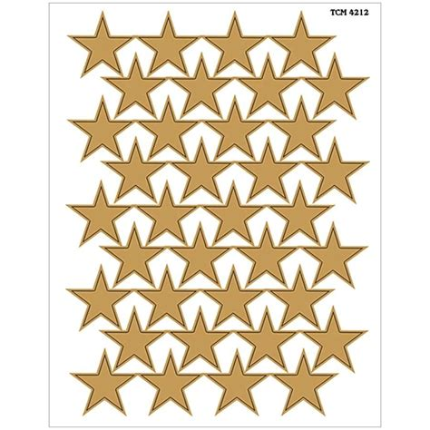 Large Gold Foil Stars Stickers Tcr4212 Teacher Created