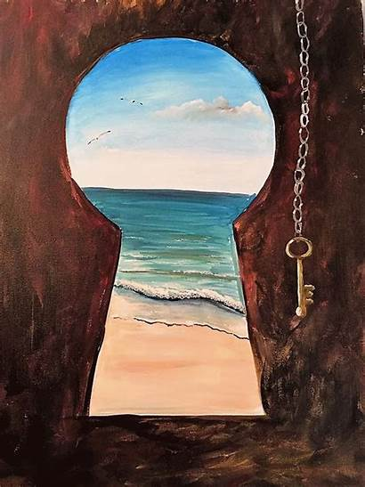 Painting Key Canvas Paintings Acrylic Paint Beginners