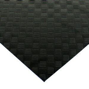 BLACK RUBBER FLOORING MAT HEAVY DUTY FLOOR MATTING GARAGE