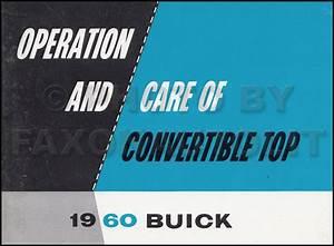 1960 Buick Chassis Repair Shop Manual Original