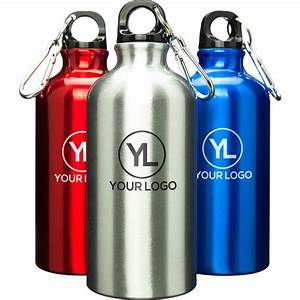 aluminum water bottle 17 oz personalized water bottles With custom bottled water bottles