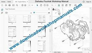 Daihatsu Fourtrak Workshop Repair Manual Download