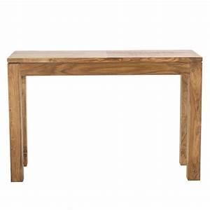 Console En Bois : table console en bois de sheesham massif l 120 cm stockholm maisons du monde ~ Teatrodelosmanantiales.com Idées de Décoration