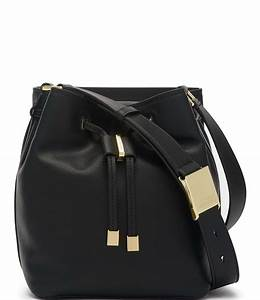 Calvin Klein Avery Pebble Leather Crossbody Bucket Bag