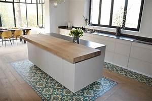 Ilot Bar Cuisine : ilot central de cuisine plan bar en bois massif cuisishop ~ Preciouscoupons.com Idées de Décoration