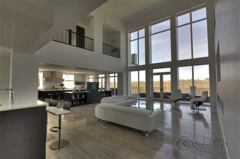 high  residential modern living room calgary