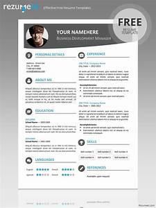 hongdae modern resume template With free modern resume