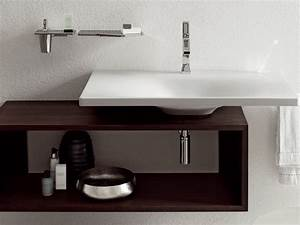 Meuble Salle De Bain Suspendu : meuble suspendu pour salle de bain ~ Edinachiropracticcenter.com Idées de Décoration