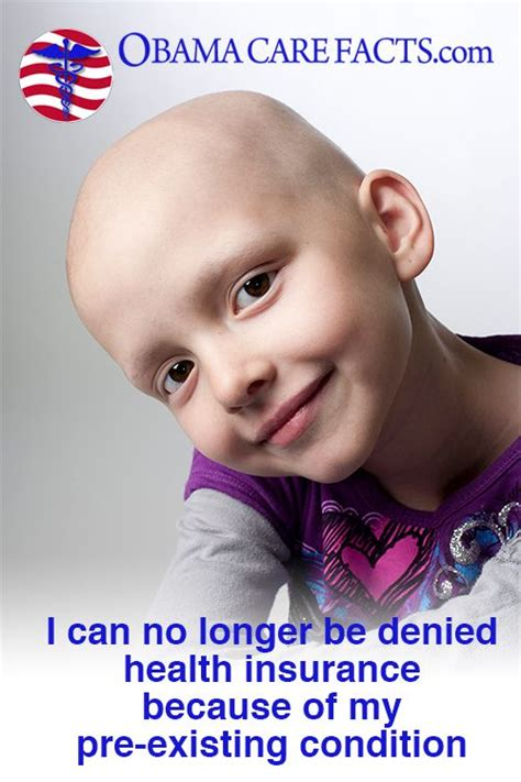 A common side effect of chemotherapy is hair loss. I can't be denied Health Care! | Obamacare facts