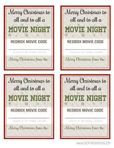 Redbox Movie Night Gift Tags Printable