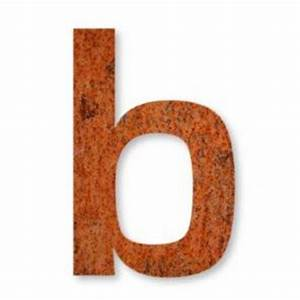 corten steel letter b house numbers direct With corten steel letters