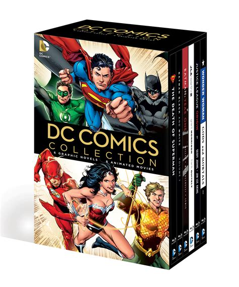 dc graphic novel comics dvd collection ray sets animated novels blu films combo dvds universe comic releases today books entertainment