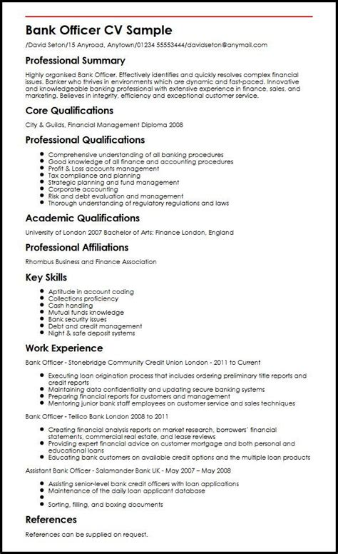 Bank Resume by Banking Bank Resume Resume Exles