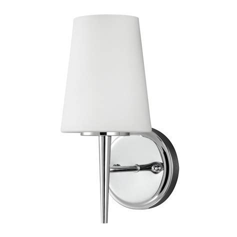 Bathroom Sconces Chrome by Sea Gull Lighting Driscoll Chrome One Light Bathroom Wall