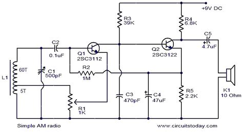 Simple Radio Electronic Circuits Diagrams