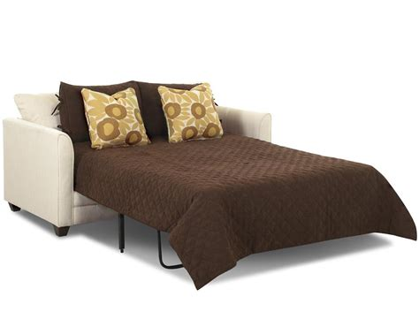 small sleeper sofa  full size mattress  klaussner