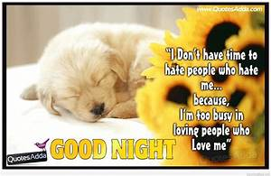 Good night quotes, sayings for friends and friendship