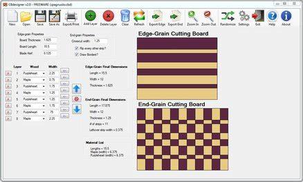 cbdesigner  cutting board design software