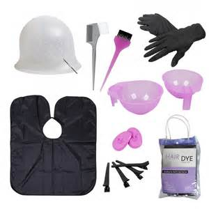 hair dye coloring tool kit highlighting cap hook brush