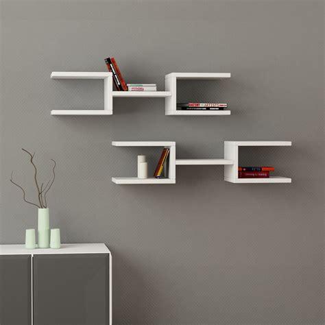 mensole di design dandy coppia mensole muro design moderno in legno 75 cm