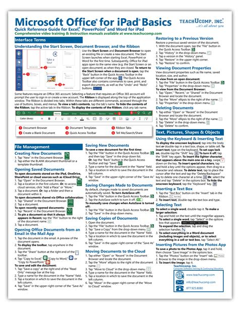 Office 365 Reference Guide by Buy Microsoft Office For Reference Cards