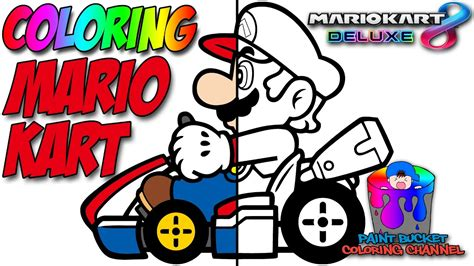 mario kart  deluxe nintendo switch super mario coloring