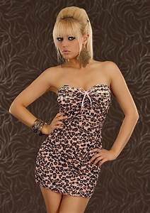 robe bustier courte sexy rose imprime leopard femme With robe courte rose